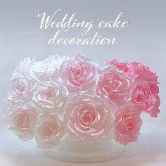 Wafer Paper Flowers, Paper Roses, Wedding Cakes, Studio, Instagram, Decor, Wedding Gown Cakes, Decoration, Wedding Cake