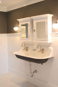 Small Bathroom Sink Ideas Double Trough Sink Medicine Cabinets