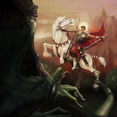 St George and the dragon | St. George and the Dragon by *kelaydinov on deviantART