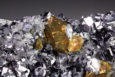 Galena with Chalcopyrite and Quartz; South Petrovitsa Mine, Smolyan Oblast, Bulgaria