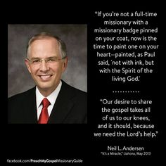 """The Lord is awakening the minds and opening the hearts of good and honest people to receive His missionaries. You already know them or will know them. You are an important part of this unfolding miracle."" From #ElderAndersen's pinterest.com/pin/24066179229002852 inspiring #LDSconf facebook.com/223271487682878 message lds.org/general-conference/2013/04/its-a-miracle. Learn more lds.org/topics/missionary-work and #passiton. #ShareGoodness"