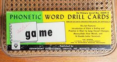 Word Drill Phonetic Flip Flash Cards Home School Learning Game US Shipping Included Kenworthy Educational Service No 2209 2 Vintage 1972 by TremendousTreasures on Etsy