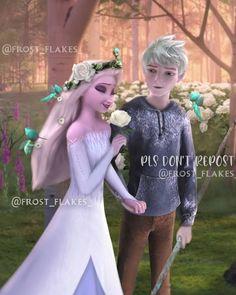 Elsa Y Jack Frost, Dark Jack Frost, Jack Frost And Elsa, Disney Princess Movies, Disney Princess Pictures, Disney Movies, Jelsa, Sailor Princess, Princess Luna