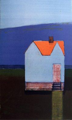 Varm høst, Gunn Vottestad Horse Barns, Abstract Paintings, Tiny Houses, Fiber Art, Folk Art, Choices, Landscapes, Boards, Artists