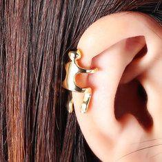 Fashion Mens Earrings Titanium Steel Geometric Handmade Round Wood Stud Earrings for Women online - NewChic