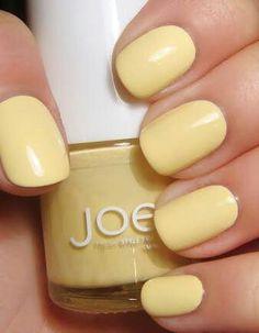 Pastel Yellow nails
