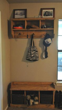 Entryway Shelf and bench...  Make this shelf!