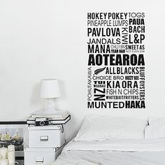 Get some Kiwiana in your home, office or bach with this WALL DECAL from Cheeky Raskal | cheekyraskal.co.nz