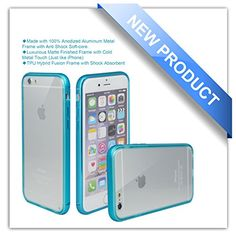 "iPhone 6 Case, Zio [Aluminum Metal Frame] [TPU Hybrid Fusion] [[All Clear Scratch-Resistant Clear Back Cover] [Shock Absorbent] iPhone 6 4.7"" Case [Iron Bumper] [2015 Model] (iPhone 6-Blue) Zio http://www.amazon.com/dp/B00XXIEMAU/ref=cm_sw_r_pi_dp_mjHPvb0AK66M5"