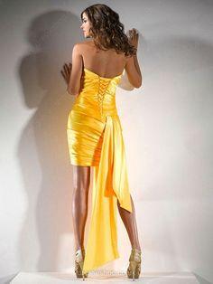 Sheath/Column Sweetheart Elastic Woven Satin Asymmetrical Crystal Detailing Cocktail Dresses #02011962
