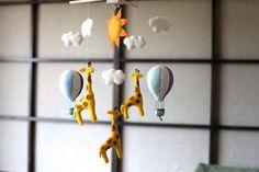 Hot Air Balloon Giraffe Mobile Crib mobile nursery mobile