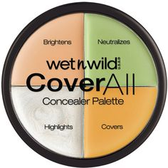 Wet n Wild Cover All Concealer Palette Corrector Concealer, Concealer Palette, Makeup Palette, Makeup Dupes, Makeup Brands, Makeup Products, Beauty Makeup, Beauty Tips, Wet N Wild Cosmetics