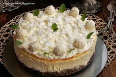 my passions: Cheesecake insanely coconut Cheesecake Recipes, Queso, Camembert Cheese, Food And Drink, Coconut, Cooking Recipes, Menu, Pie, Sweets