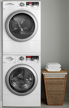 Stackable Bosch Washer and Dryer