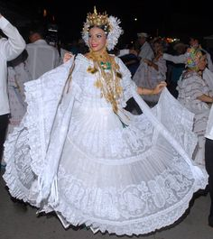 Alexandra Vargas Benavides, Reina festival de la mejorana 2012 | #pollerapanameña blanca