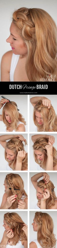 Dutch braid tutorial for when your fringe is a mess