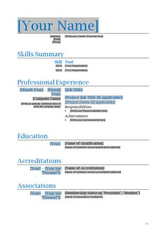 professional resume template microsoft word - Word Resume Samples