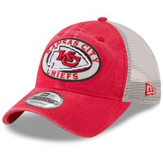 los angeles 7b9e4 e9225 Youth Kansas City Chiefs New Era Red Natural Patched Pride Trucker 9TWENTY Adjustable  Hat