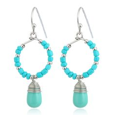 Fashion Personality Bohemia Handmade Beads Resin Stone Dangle Earrings Vintage Ethnic Jewelry Gift For Women Wholesale