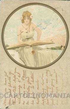 Art Nouveau Raphael Kirchner postcard cartolina RK204