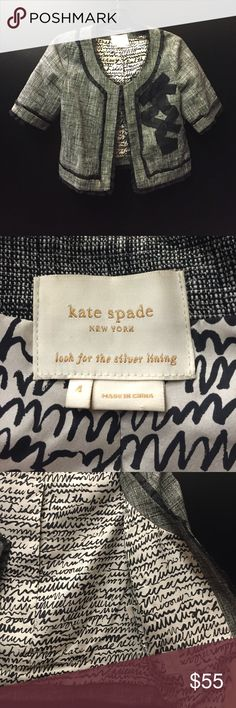 Kate Spade Ribbon Corset Lace Jacket Top Perfect condition. Non smoking home! Wonderful little top. Size 4. Authentic Kate Spade! Would fit XS / S perfectly. kate spade Jackets & Coats Blazers