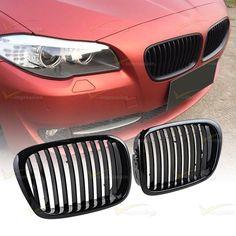 Fit BMW 5 Series E39 Gloss Black Kidney Euro Sport Front Hood Grille M5 97-03 #Vimpression