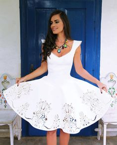 My wedding dress :) Petra, Best Summer Dresses, Wedding Tips, Wedding Jewelry, Wedding Decorations, Fashion Dresses, White Dress, Wedding Dresses, My Style