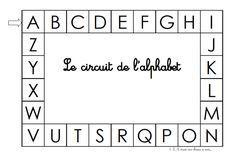 Jeu : le circuit de l'alphabet, MS (nommer les lettres)
