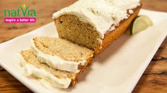 Coconut banana lime bread