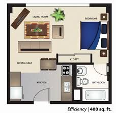 Floor plan for a 400 sq ft apartment | tiny house | Pinterest ...