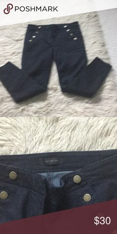 Jeans This Spring's newest Ann Taylor skinny jeans. Very cute with button pockets. Modern fit size 6 Ann Taylor Jeans Ankle & Cropped
