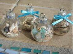 Since we are spending Christmas 2013 at the beach. Beach Memory Ornaments