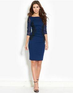 Lipsy Lace Panel Dress | BANK Fashion