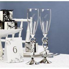 Hortense B. Hewitt Wedding Accessories Love Knot Champagne Toasting Flutes, Set of 2 (Kitchen) www.amazon.com/...