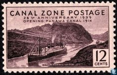 Panama Canal Zone - Channel flooded after the construction 1939