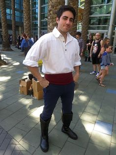 Prince Eric from the Little Mermaid, exploring the #DisneySide of #WonderCon 2014 #cosplay