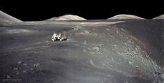 Apollo 17 at Shorty Crater Image Credit: Apollo 17 Crew, NASA Explanation: In December of Apollo 17 astronauts Eugene Cernan and Harrison Schmitt spent about 75 hours on the Moon in the Taurus-Littrow valley, while colleague Ronald Evans orbited overhead. Moon Missions, Apollo Missions, Eugene Cernan, Lunar Lander, Nasa Space Program, Astronomy Pictures, Hubble Pictures, Moon Surface, Spiral Galaxy