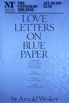 Love Letters on Blue Paper by  Anonymous