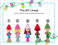 Wh- Question Printable about cute little elves