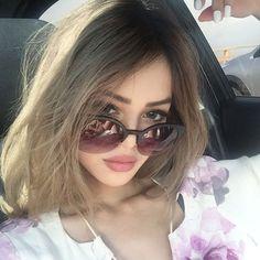 @lilymaymac: Retro Trendy Round Circle Cat Eye Semi Rimless Sunglasses 9108