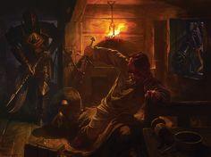 Fantasy art by Alexander Deruchenko.