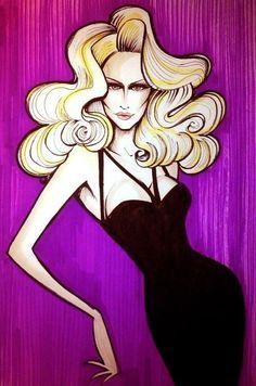madonna cartoon | madonna blond ambition tour by nicotronick cartoons comics digital ... |