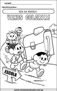 desenhos para colorir volta às aulas sÓ escola educaçao