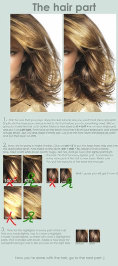 Hair retouch tutorial by ~EverythingsMagic on deviantART