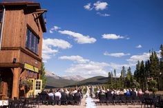 Ten Mile Station wedding ceremony photographed by IN Photography. Breckenridge, Colorado.