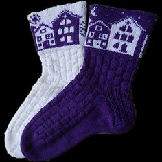 Ravelry: Tonight socks by Caoua Coffee - free knitting pattern Knitting Charts, Baby Knitting Patterns, Free Knitting, Crochet Socks, Knitting Socks, Knit Socks, Mochila Crochet, How To Purl Knit, Fair Isle Knitting