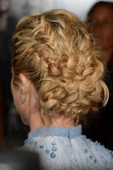 Back View of Brittany Snow Braided Updo for Thick Hair