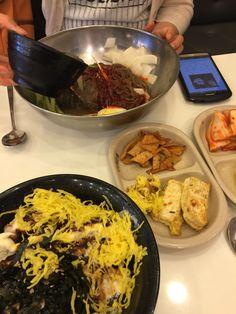 비빔냉면 돈까스마요덮밥 #김밥천국