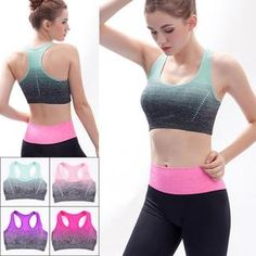Fseason-Women Yoga Sports Cotton Lace Patchwork Breathable Sport Bra