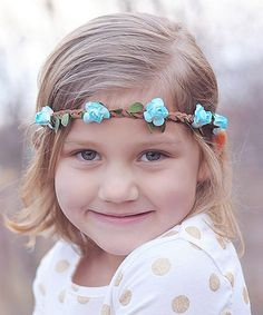 This Blue Flower Leather Braid Headband by Zuzu Petals is perfect! #zulilyfinds